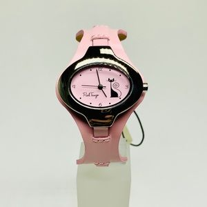 Cute 50's Inspired Pink Kitty Watch